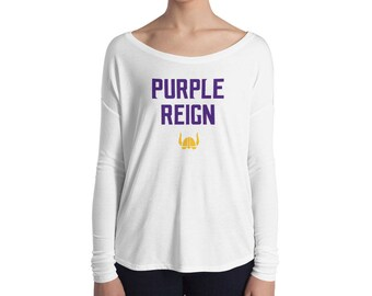 Purple Reign Minnesota Vikings Football Fan Minneapolis Miracle Skol Ladies' Long Sleeve Tee