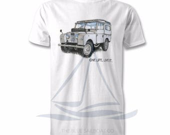 Adults T-Shirt, Land Rover Defender, OneLifeLiveIt, Classic,Novelty T-Shirt, Cars, Novelty Gift, Defender T-Shirt, Land Rover T-Shirt Adults