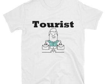 Tourist Shirt - Vintage Shirt - Vacation Shirt - Hawaiian Shirt - Tourist Tshirt - Beach Shirt - Vintage Tourist - Tropical Shirt - Tee