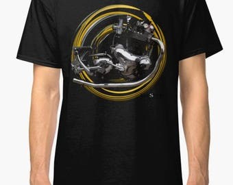Norton Commando inspired Motorcycle engine TShirt INISHED Productions