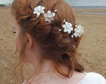 Hair Vine Daisy and Freshwater Pearl