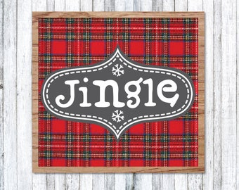Jingle Sign, Fixer Upper Christmas SVG, Joanna Gaines Christmas Vector, Magnolia Market Cut File, Stencil, Print, Silhouette Cameo, Sign