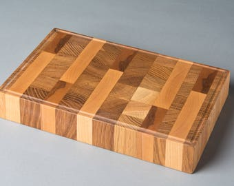 Black walnut, maple, Oak bench end grain cutting board