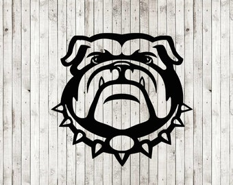Bulldog svg cut file, bulldog clipart, dxf, png