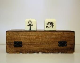 Kemetic Candle Set | Egyptian Candles | Meditation, Ritual, Devotional Candles