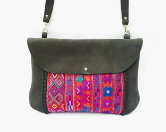 Ethnic woman leather bag