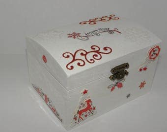 Box / chest wooden Christmas decoration