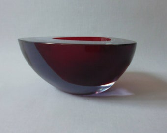 Chunky Glass Bowl Geode Murano Archimede Seguso Glass Art