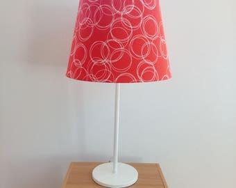 Orange | White | Circles | Orange and White Circles Lampshade | bedroom | lounge | dining room