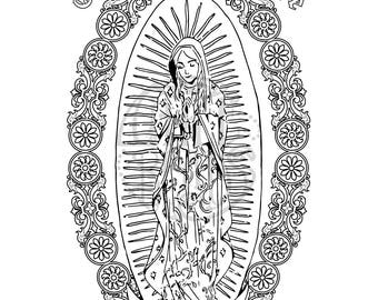 Our Lady of Guadalupe Coloring Page Printable