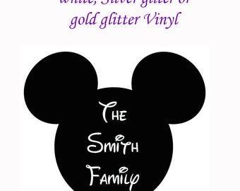 Mouse Head Vinyl Decal  Disney Inspired
