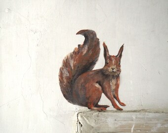 Squirrel Sticker Wall Decal Drawing