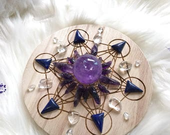 15cm Enhance Intuition and Mind Power Complete Set of Crystal Grid