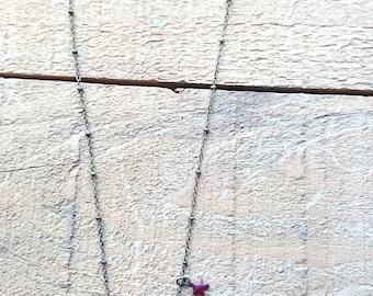 Necklace - antique religious medal - OOAK