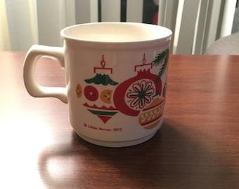 Lillian Vernon 1977 Christmas Mug, Vintage 1970s Mug