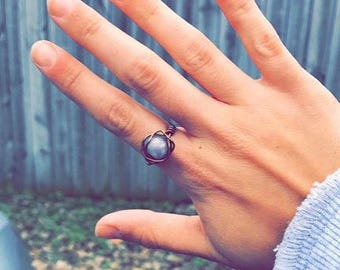 Marble wire ring