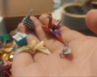 Tiny Origami - Colourful little varnished pieces
