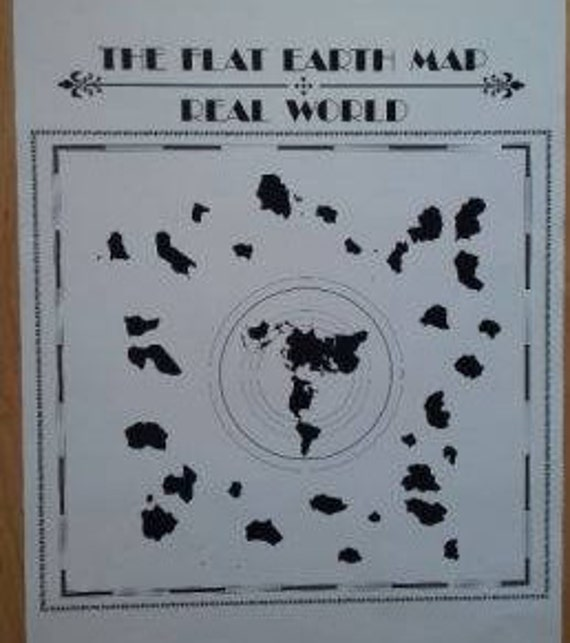 Poster the flat earth map real world description buddhist world map gumiabroncs Gallery