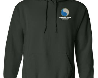 29th Infantry Division Embroidered Hooded Sweatshirt-7583