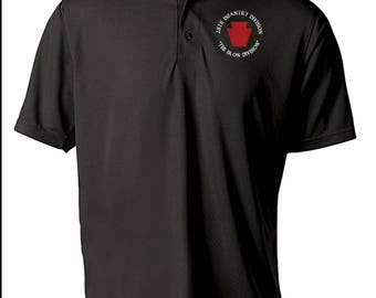 28th Infantry Division -Embroidered Moisture Wick Polo Shirt -7450