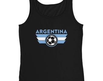 Argentina Soccer Ladies' Tank Top