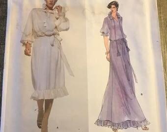 Sale! Was 55 dollars -Now 35 dollars! Vogue Paris Original Sewing Pattern 1917/Yves Saint Laurent/ FF/ UNCUT/Size 14
