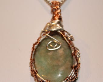 Adventurine Wire Wrapped Necklace