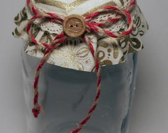 Gold Hex decorative Jar (Large)