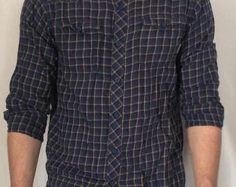 Mens Lightweight blue buttondown flannel from columbia sportwear