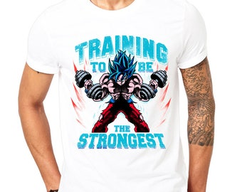 Dragonball Z Goku Super Saiyan Blue Workout T-Shirt - Athletic Gym Wear - Fitness Clothing - Funny Work Out Quote - Crossfit Yoga Top