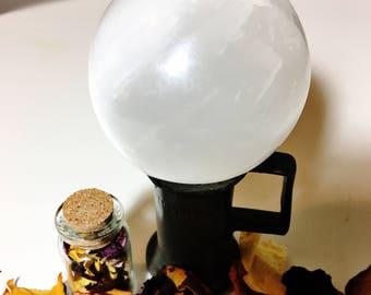 Newayak - Four Directions - Healing Selenite Sphere
