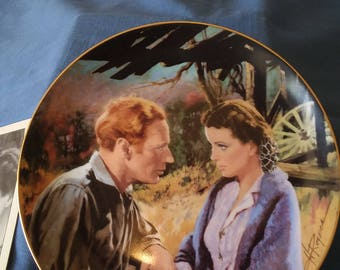 Gone With The Wind Scarlet And Ashley After The War:  50th Anniversary collectors plate