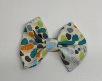Circle dog bow tie