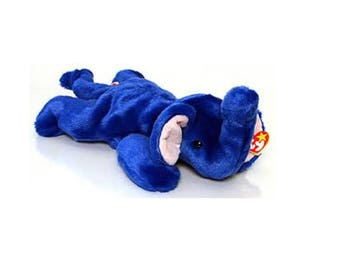 Ty Beanie Buddies Peanut (royal blue) 1998