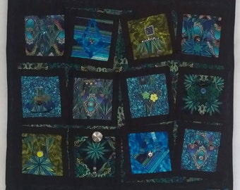 Quilted Wallhanging Art Inspired by Poem