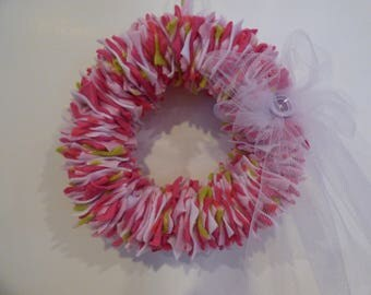 Fabulous Fabric Indoor Wreath - Homemade from FabWreath Co.