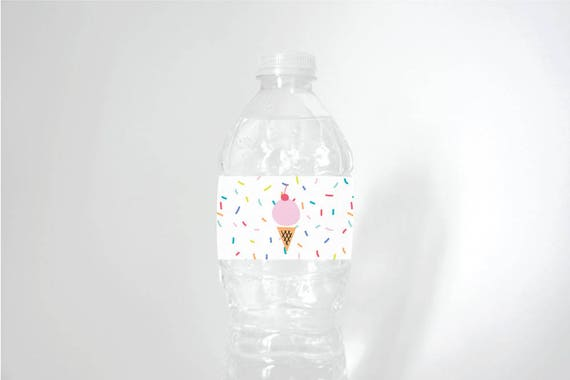 Printable Water Bottle Labels Ice Cream Theme For Birthdays Or - Printable-water-bottle-labels