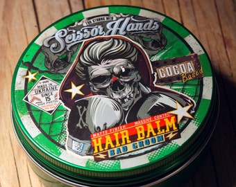 Man hair balm.5.01 OZ.150Ml Wax.clay.Manly hair wax genuine organic materials with satisfying flavor. Pure manly materials made for style.