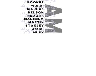 I AM SVG Digital Download (Martin Luthher King, Frederick Douglas, Booker, Marcus, Etc) Black History