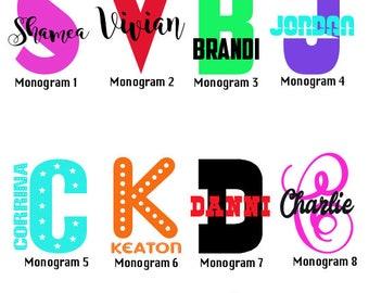 Letter Name Monogram