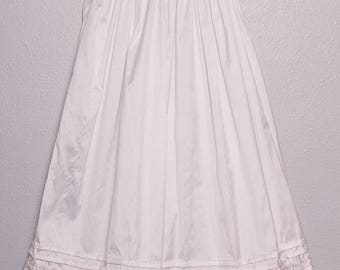 Antique White baby blessing dress with pink accents