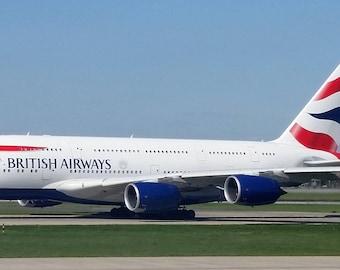 Digital Photograph of British Airways A-380