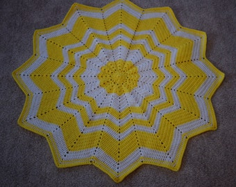 """Bright Yellow """"You Are My Sunshine"""" Baby Blanket"""