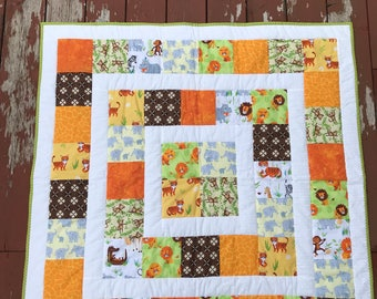 Jungle Animal Receiving Quilt