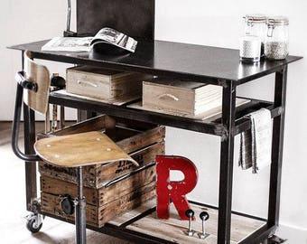 TABLE / desk / service custom Studio loft-industrial style