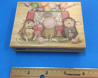 Chew, Blow, Pop ©House-Mouse Rubber Stamp