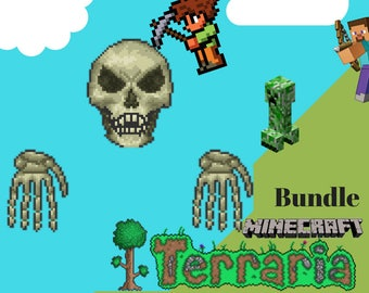 Terraria and Minecraft/ Multiple Banners/ YouTube Channel Banners /Channel Art /Personalized
