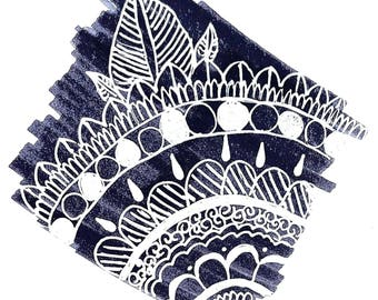 White Mandala Print