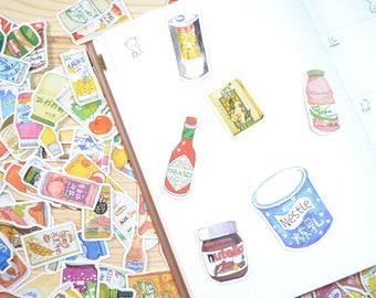 226pc Snacks Food, Japanese Snacks, Korean Snacks, Chinese Snacks, Stickers Scrapbook Supplies