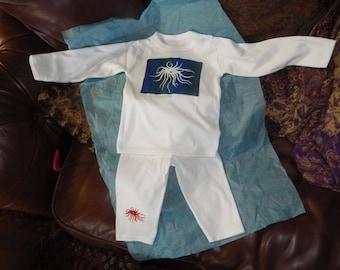 Sea anamone baby pyjamas